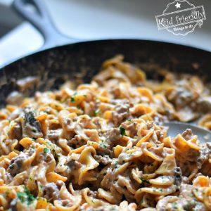One Pot Ground Beef Stroganoff Recipe