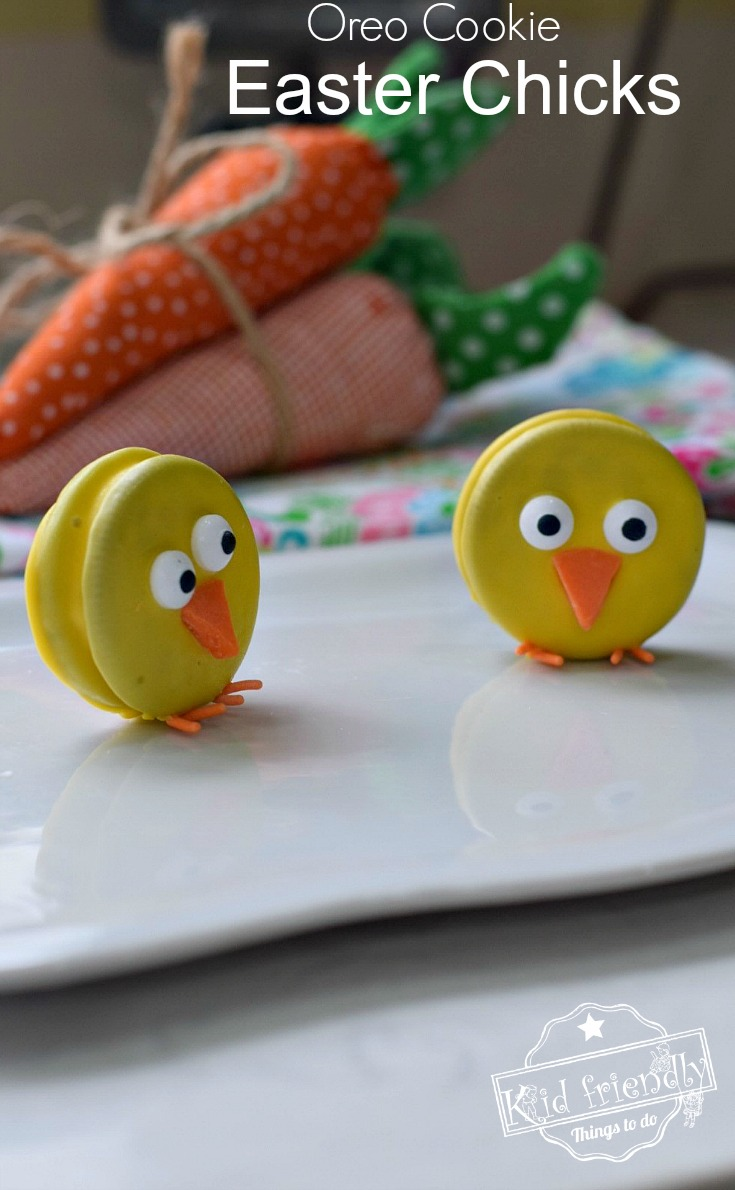 These Easter Chick Treats are perfect for your Easter Celebration. Learn how to make these simple Oreo Cookie Easter Chicks. So easy to make and Perfect for spring or Easter with the kids. - www.kidfriendlythingstodo.com