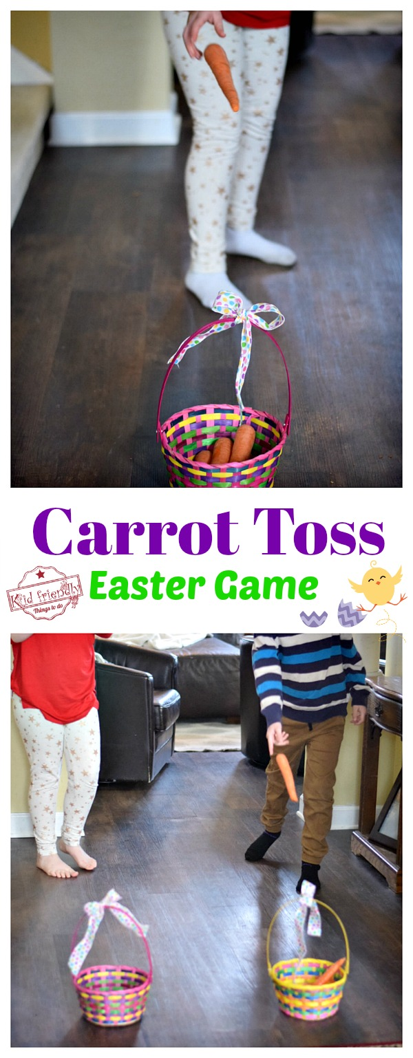 Great preschool, family or party Easter Game to play. This is so easy to set up, too! Great for a last minute Easter Game! www.kidfriendlythingstodo.com