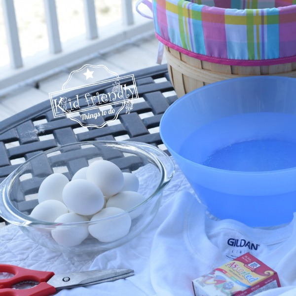 Supplies Needed for How to Dye Easter Eggs with Cotton Fabric