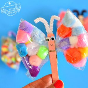 An Easy Butterfly Craft for Kids to Make Using Snack Bags