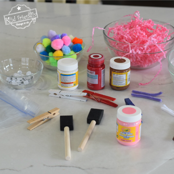 Supplies for Butterfly Craft