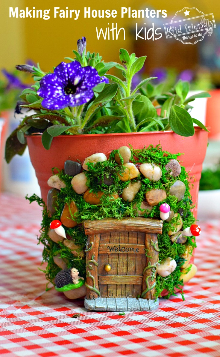 DIY Fairy House Planters to Make with Kids