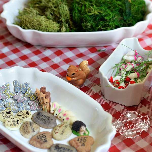 Supplies for DIY Fairy House Gardens