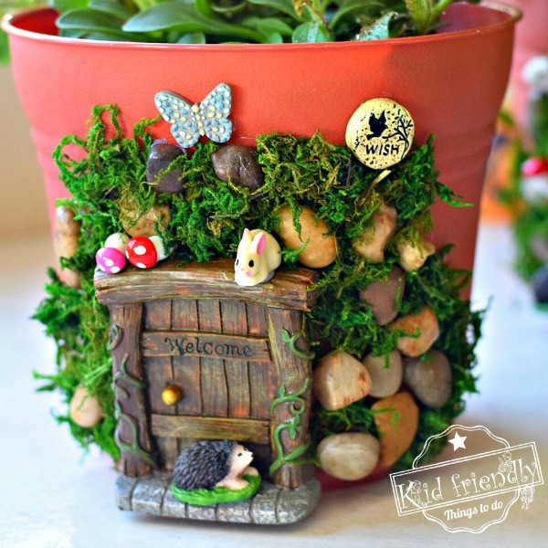 how to make an enchanted fairy house planter with kids. Black Bedroom Furniture Sets. Home Design Ideas