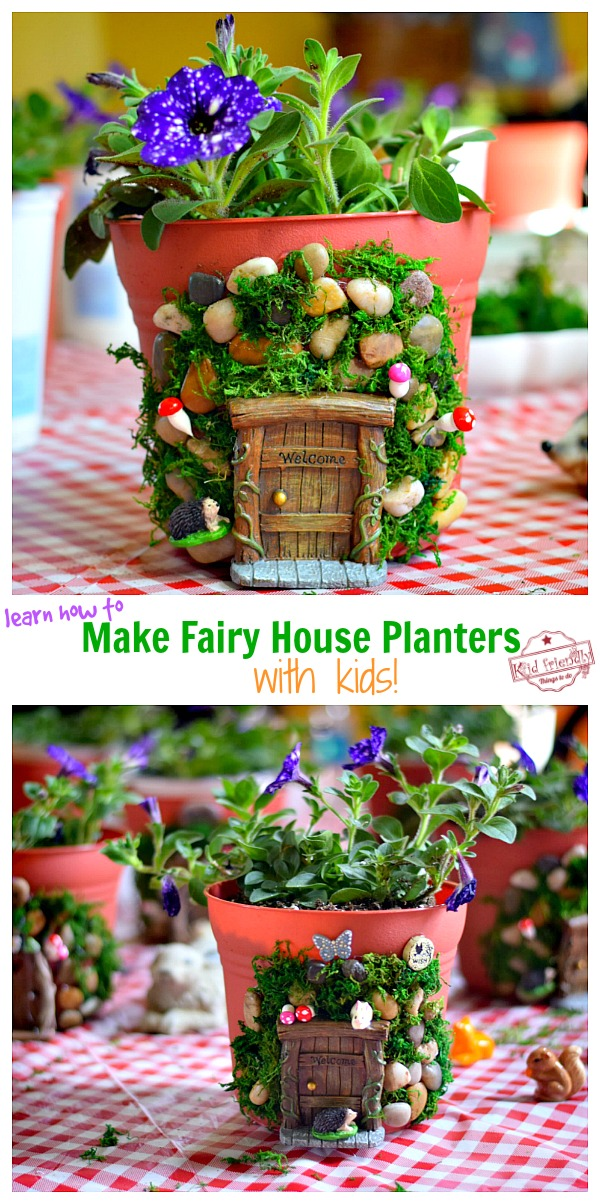 Fairy House Planters on Table