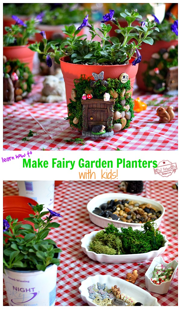 Table set up for a Fairy Garden Party with Kids