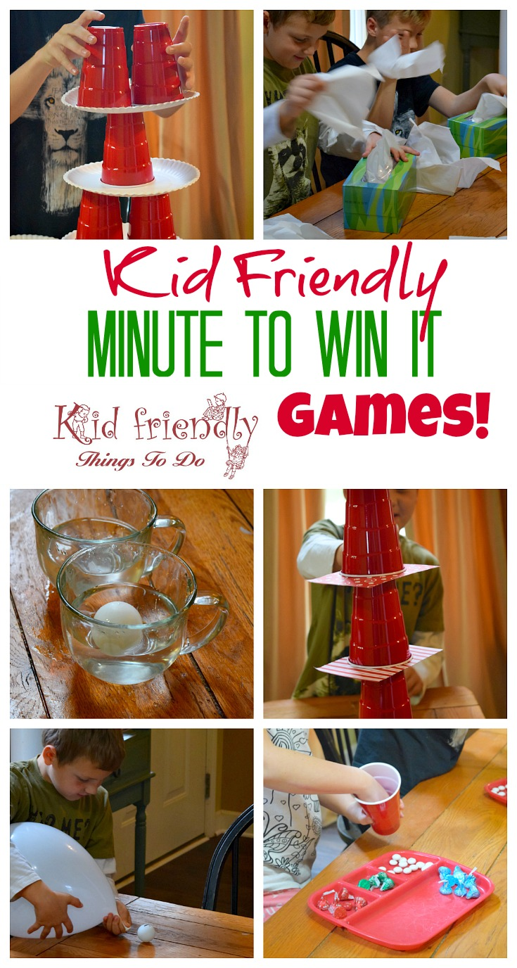 Kid Friendly Easy Minute To win it games!