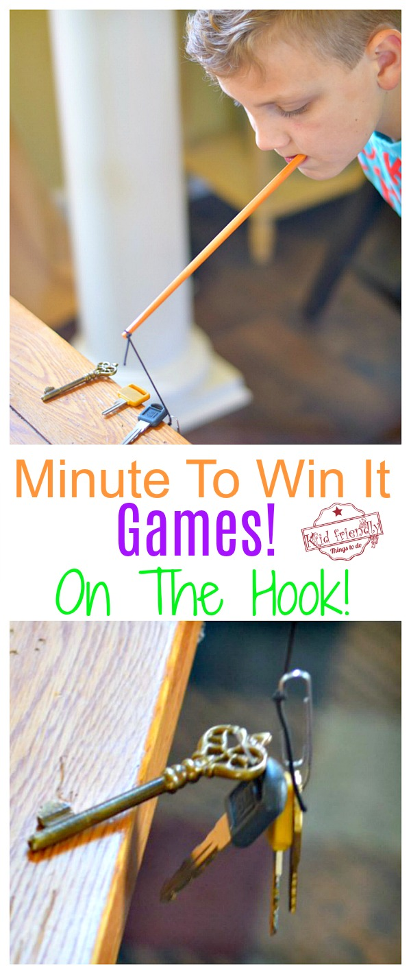 Minute To Win It - On the Hook Game to play