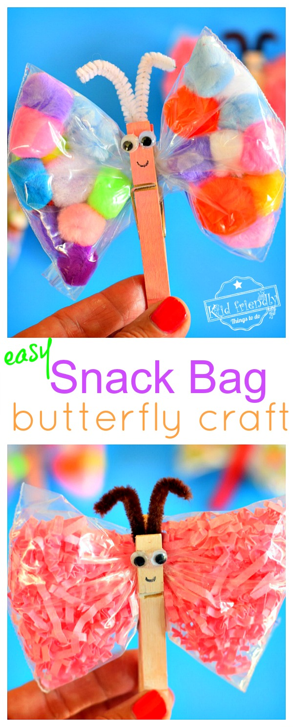 Two Butterfly Snack Bag Crafts