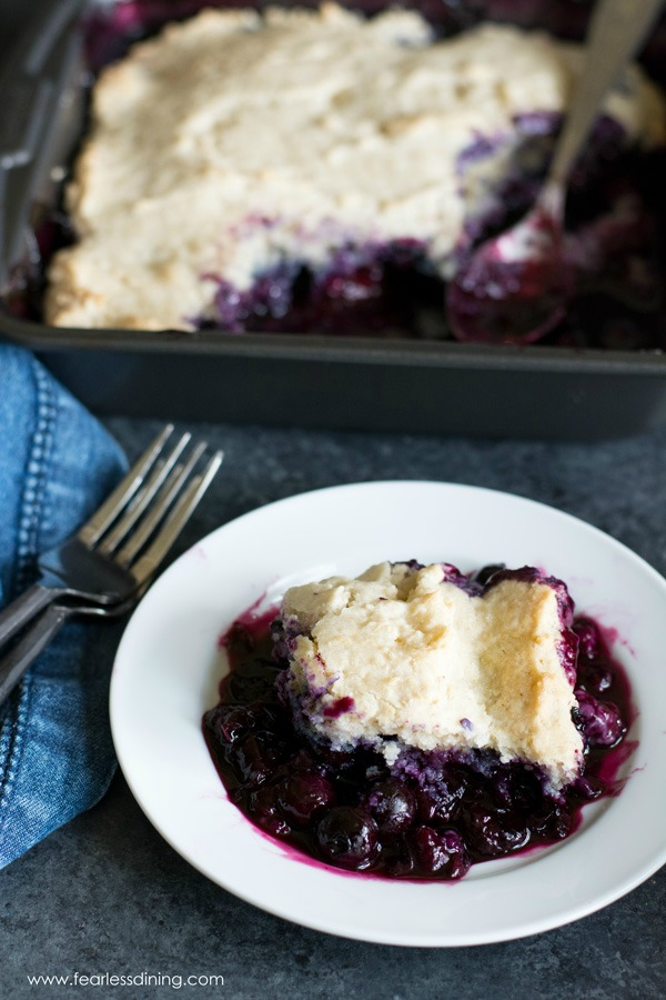Gluten Free Blueberry Cobbler Recipe