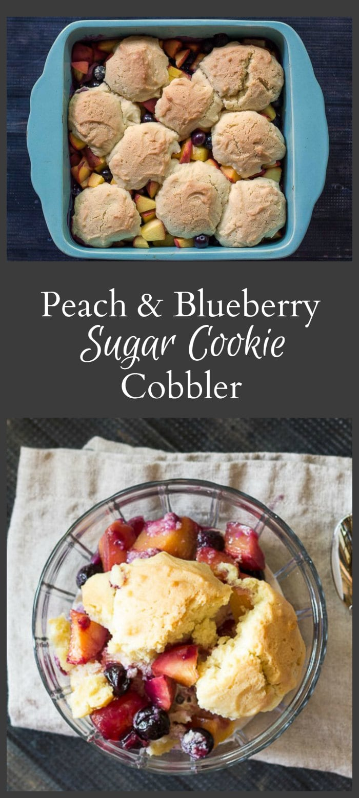 Peach and Blueberry Sugar Cookie Cobbler Recipe