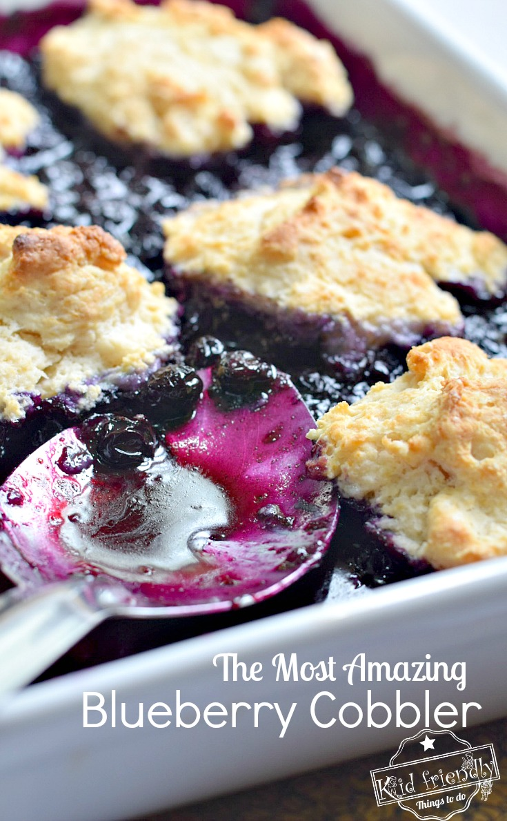 Blueberry Cobbler with Biscuit Topping