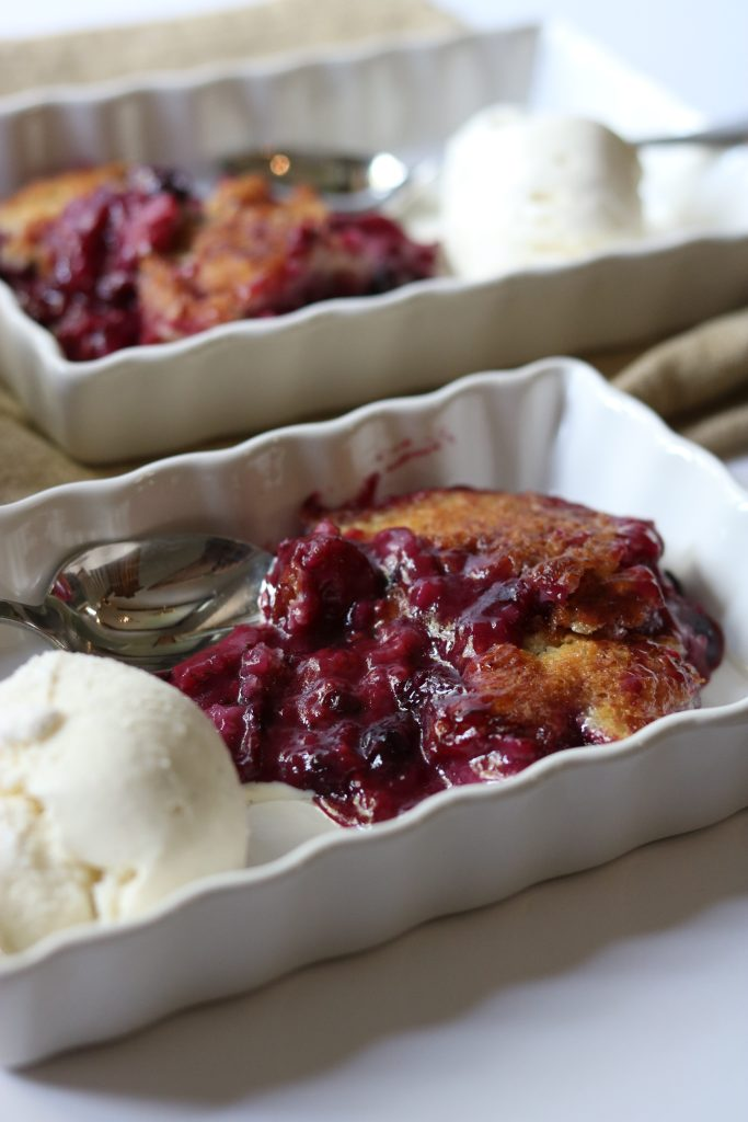 Summer Berry Cobbler