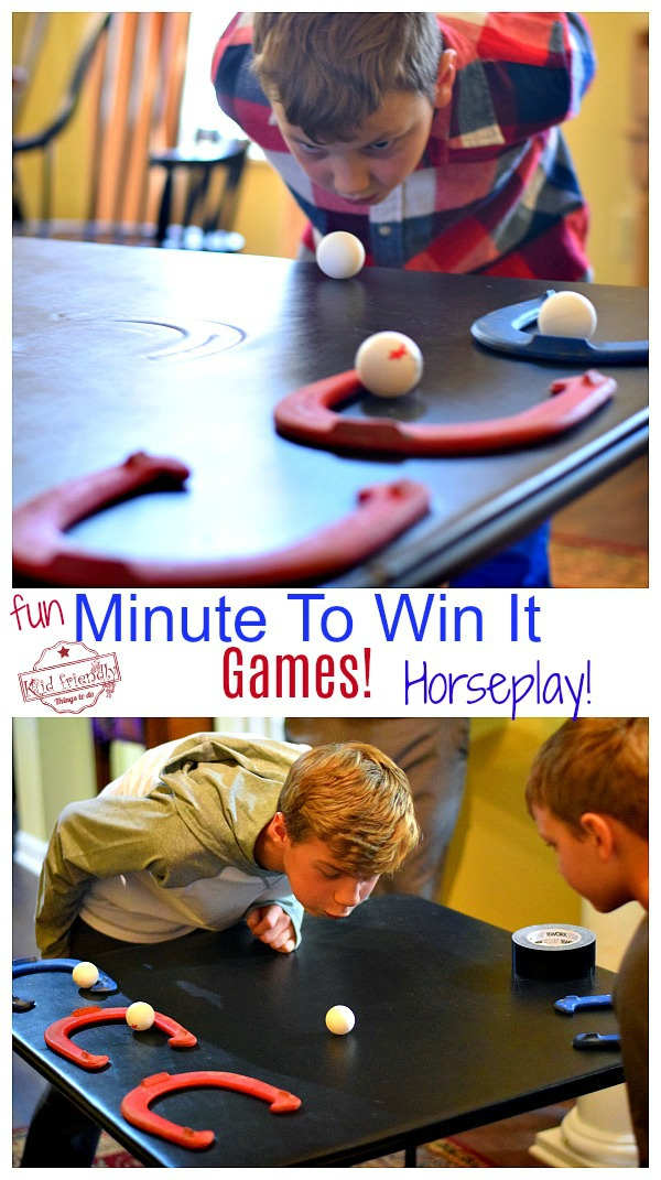 Horseplay Minute to Win it Game