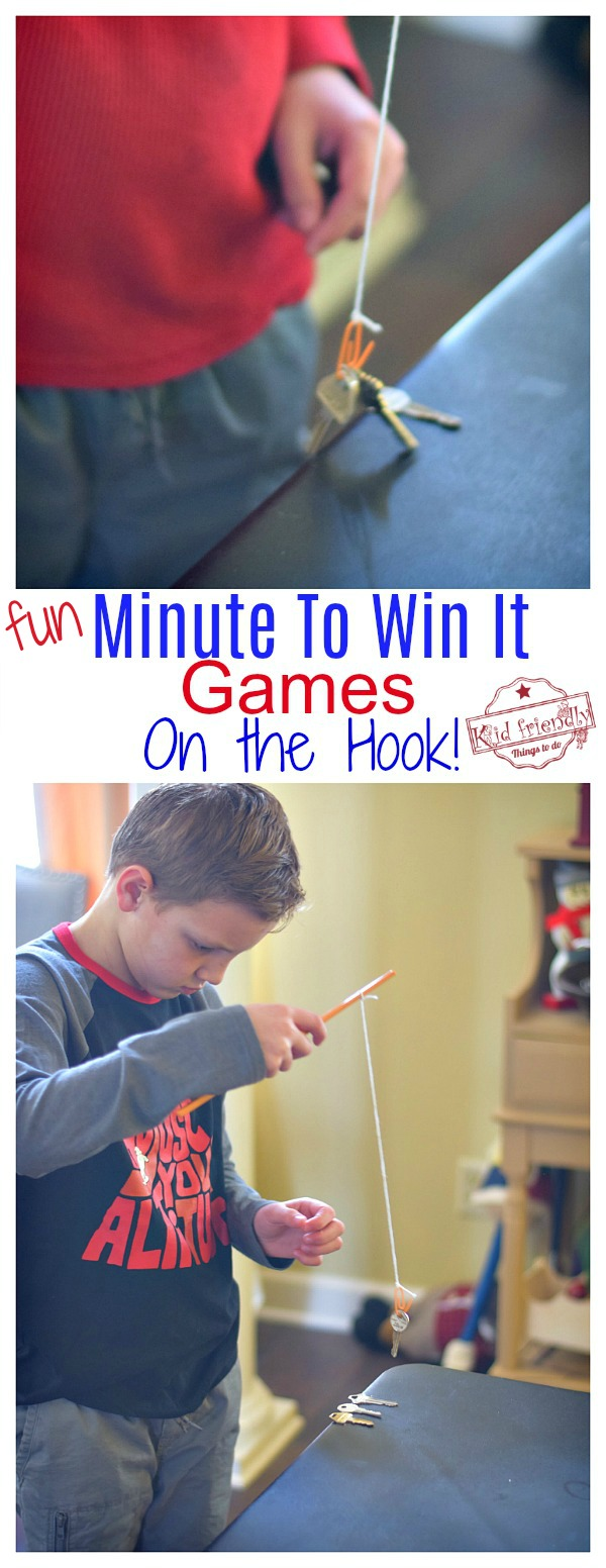 Minute To Win It Game On the Hook