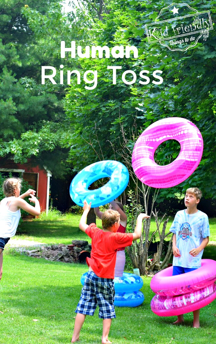Human Ring Toss a Fun Summer Game to Play with Kids, Teens and Adults
