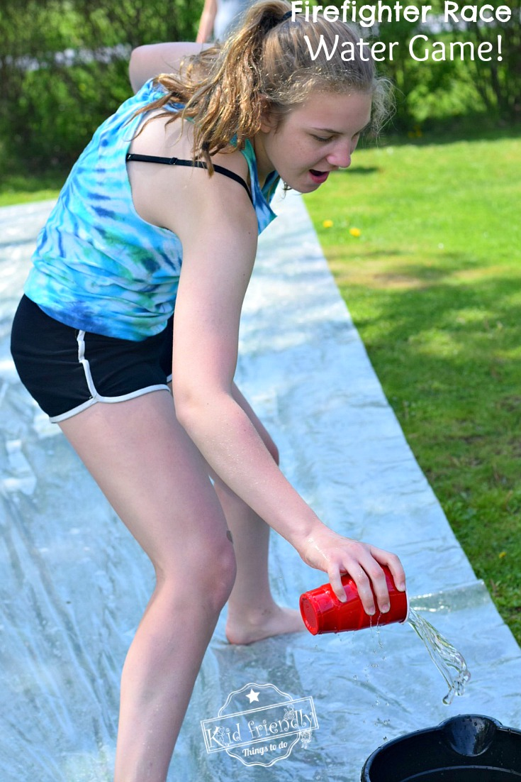 Firefighter Race - A Water Game for Kids and Teens