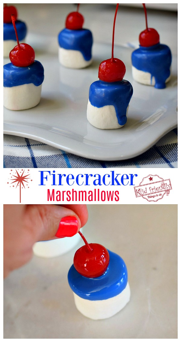 Red White and Blue Snack for holiday treats