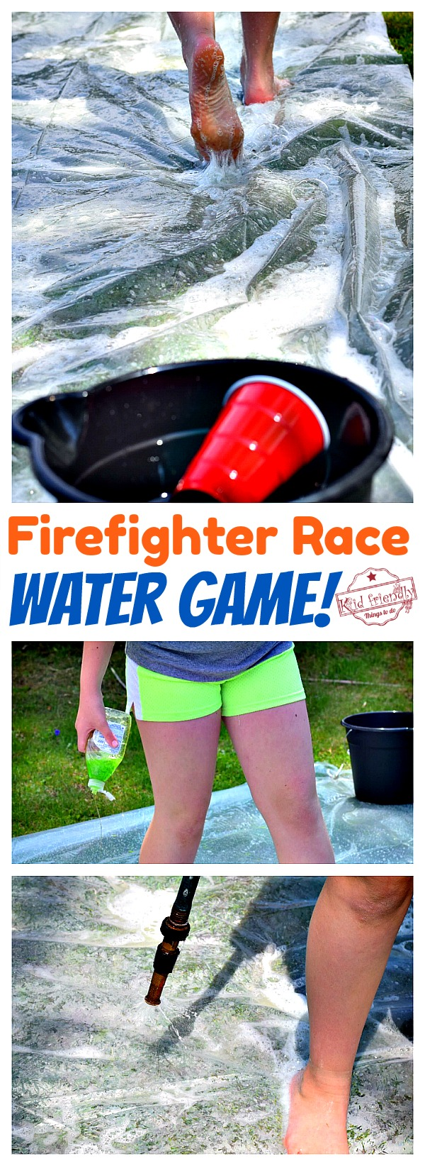 Setting up a fun water game for kids and teens