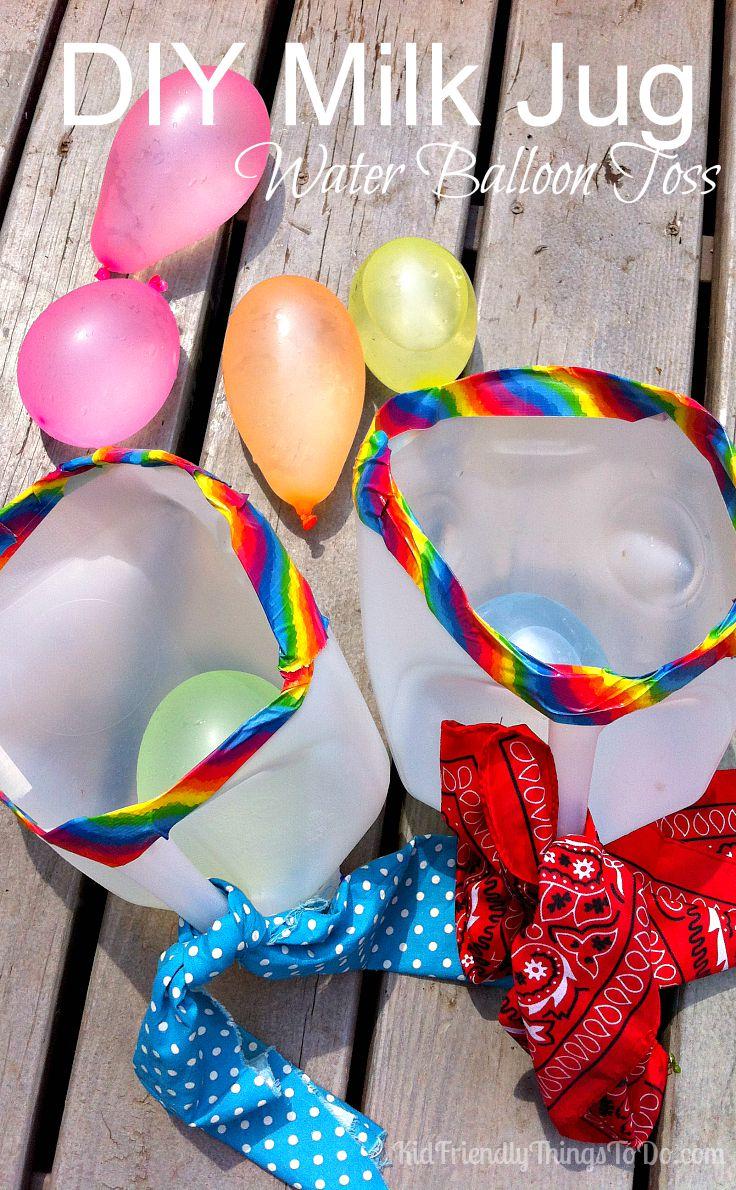 DIY Milk Jug Water Balloon Launcher