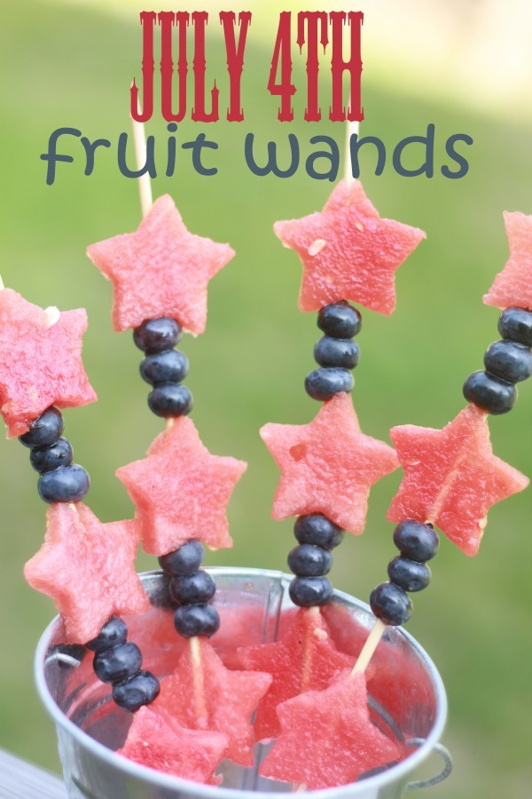 Patriotic Fruit Snack Wands