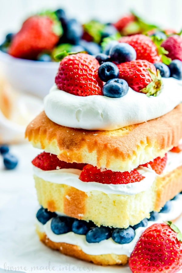 No Bake Patriotic Cake