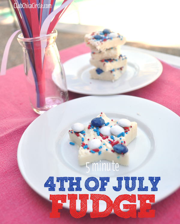Patriotic Fudge Dessert Snack