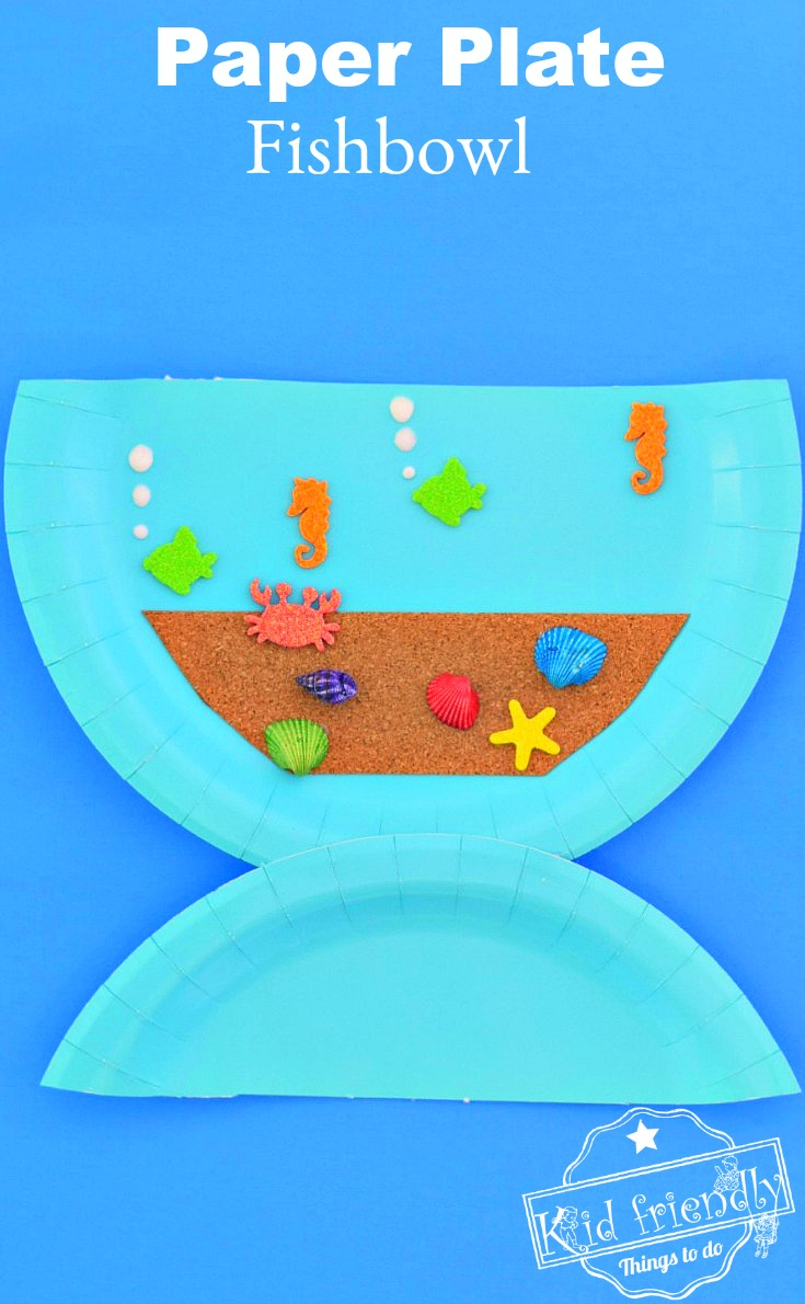 Paper Plate Ocean Themed Craft for Kids to Make