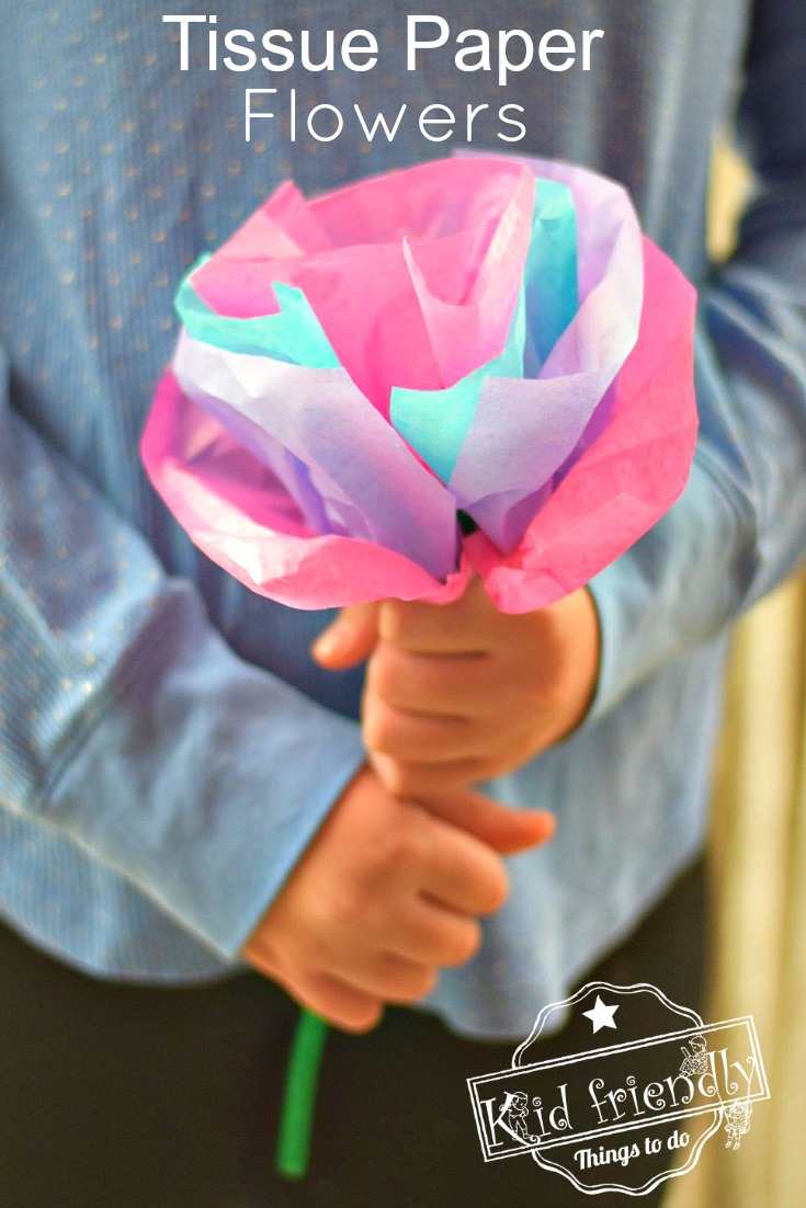 Tissue Paper Flowers for Kids to Make