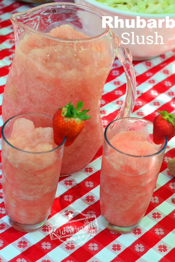 Easy Rhubarb Slush Recipe Summer Drink