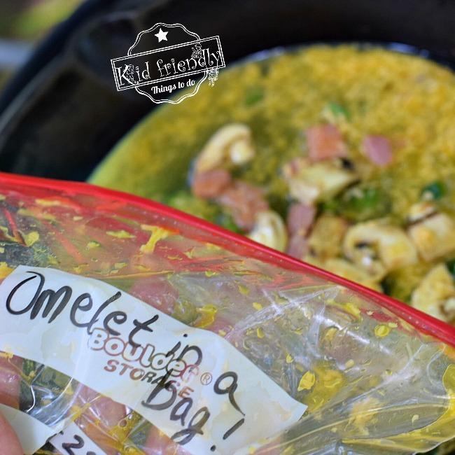 Omelet in a Bag for a food camping hack