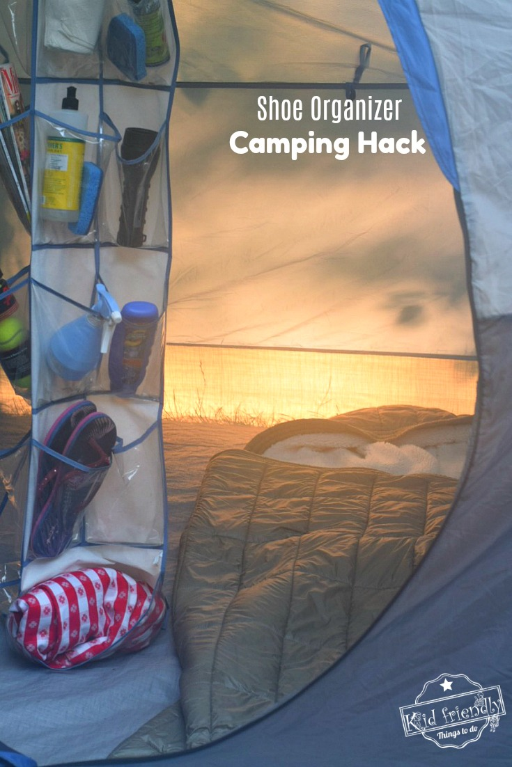 Organizer Camping Hack for camping with kids