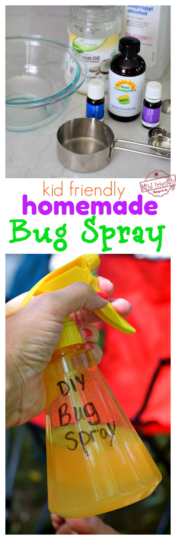Natural Bug Spray to use with effective mosquito repellents