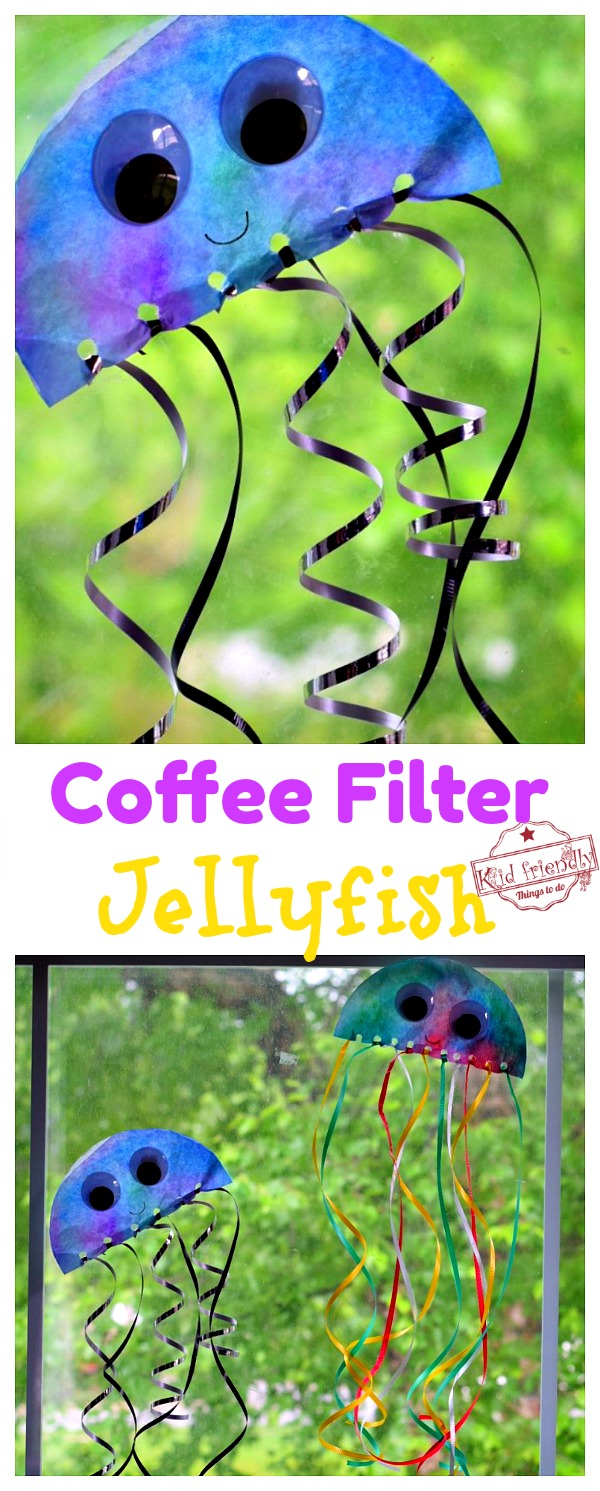 Jellyfish Coffee Filter Ocean Craft for Preschoolers