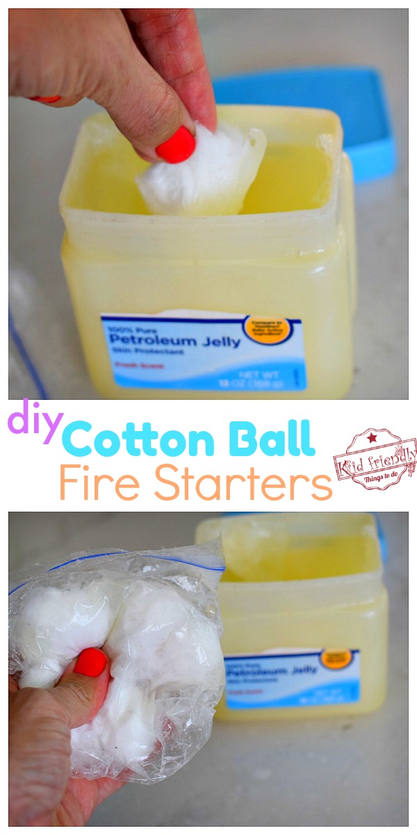 DIY Cotton Ball Fire Starters without Wax