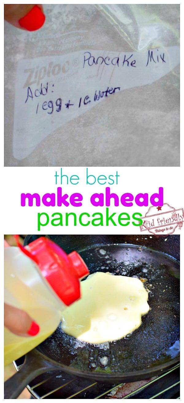 Premake Pancake Batter for Camping