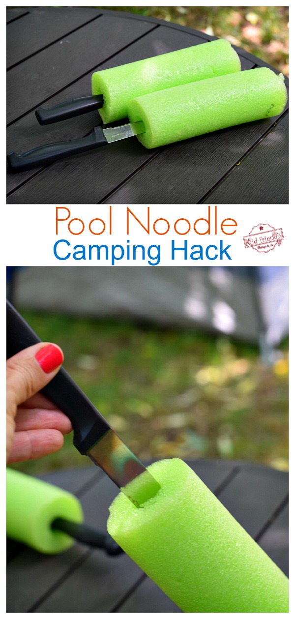 Pool Noodle Hack for sharp knives while camping