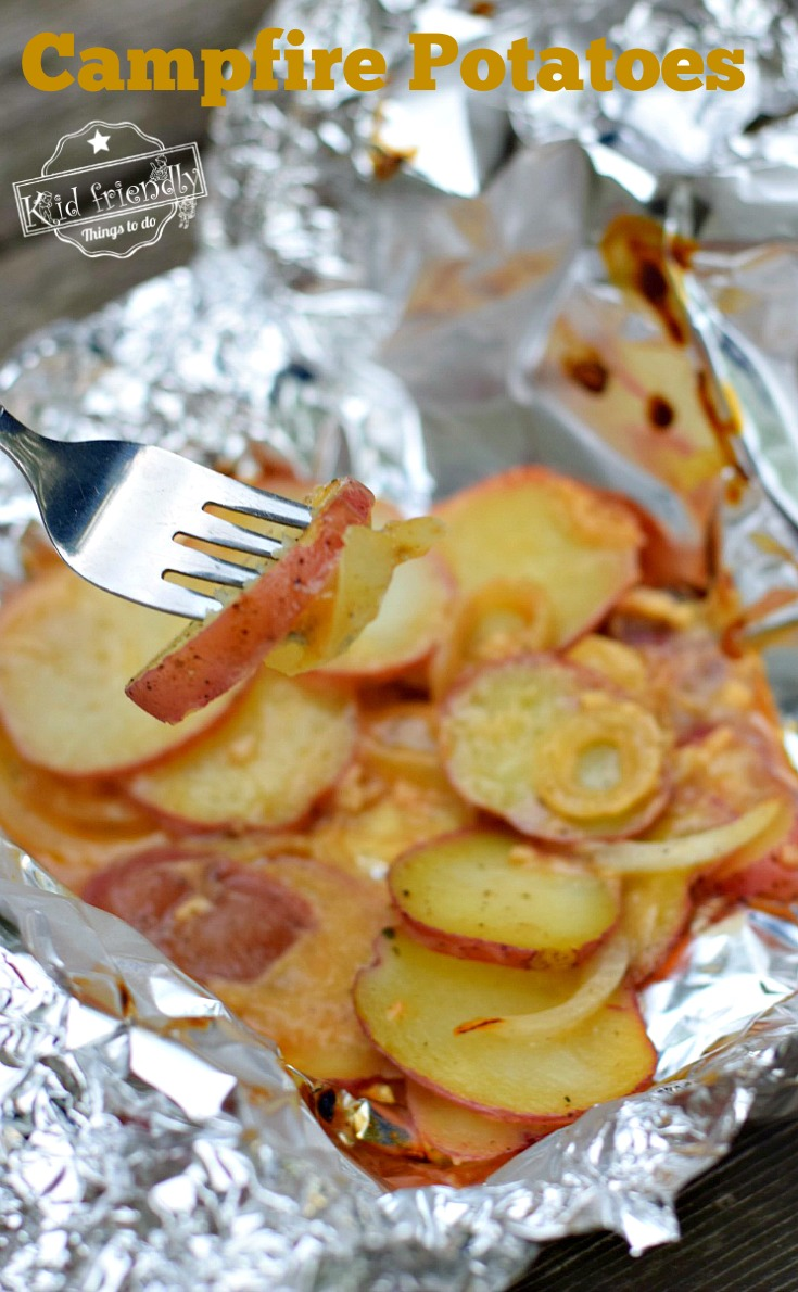 Easy Campfire Potatoes Grilling Recipe in Foil Packet