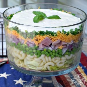 Basil Layered Salad for a Crowd Recipe