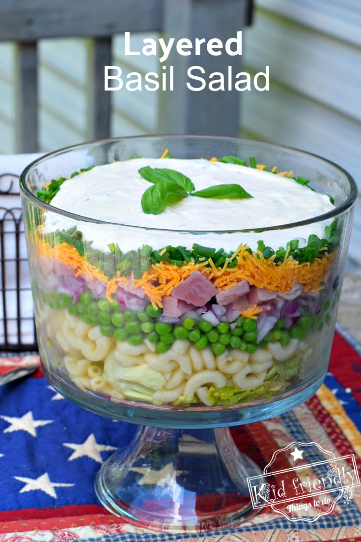 Basil Layered Salad Recipe to Feed a Crowd