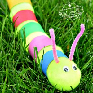 Sock Caterpillar Craft for Kids that's Easy Enough for Toddlers and Preschoolers to Make