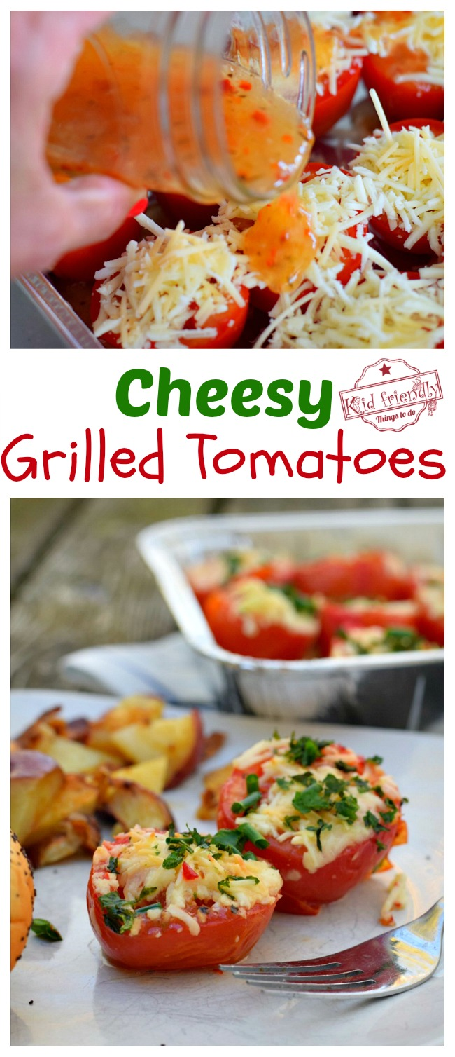 Cheesy Grilled Tomatoes Quick Grilling Recipe