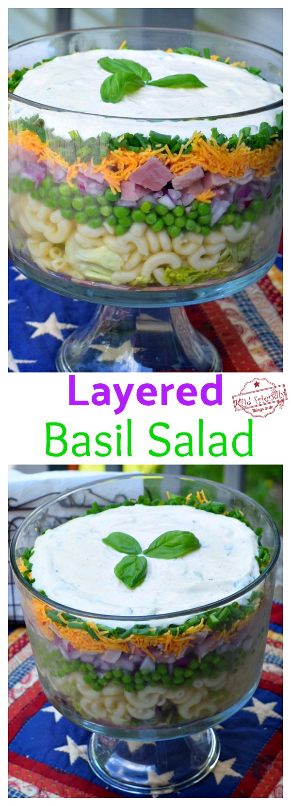 Basil Layered Salad Recipe