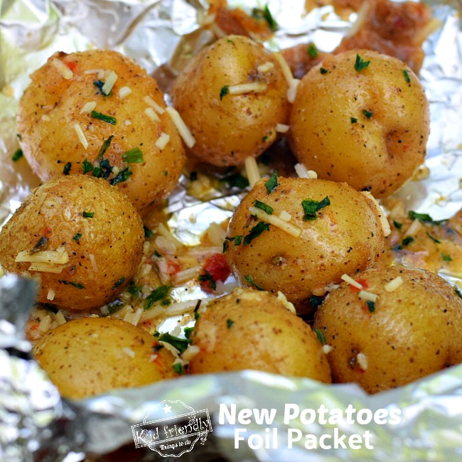 Juicy and Flavorful Grilled potatoes in a foil packet