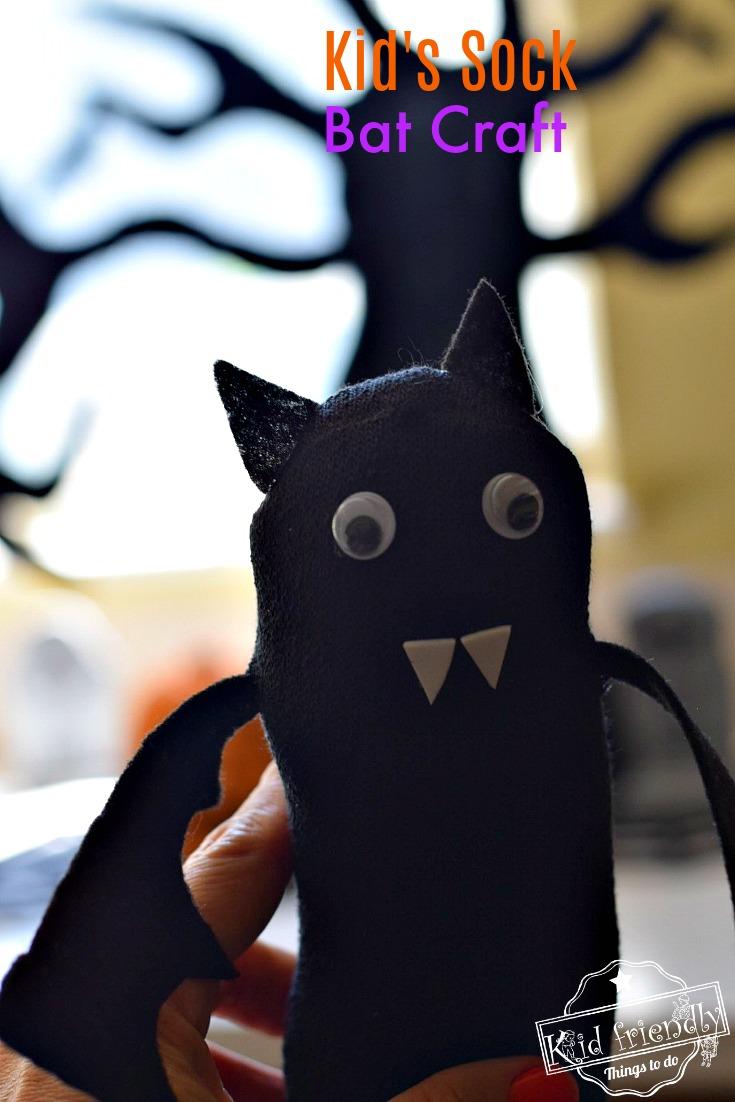 Bat craft for preschoolers