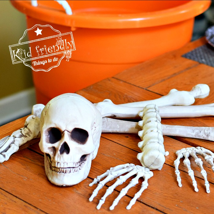 Halloween Game with skeleton bones