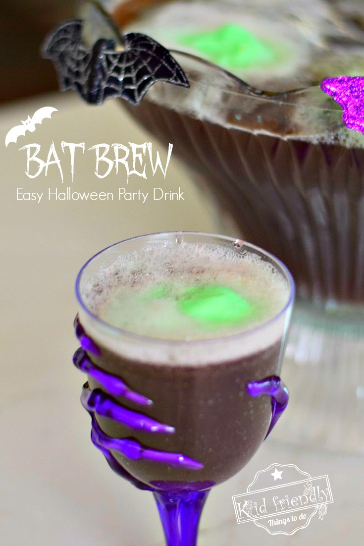 bat brew halloween punch recipe for kids | kid friendly things to do
