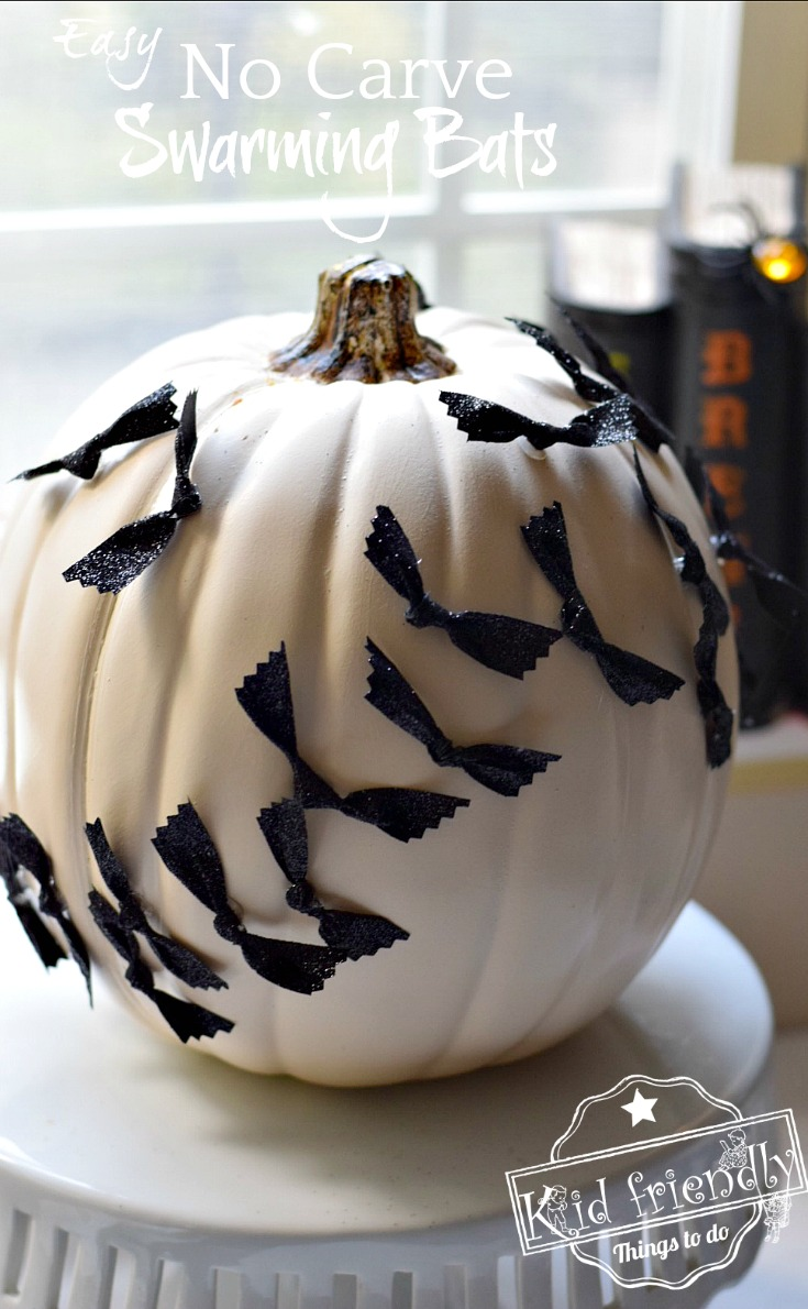 Easy Halloween No carve pumpkin craft