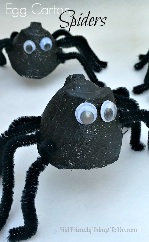 Easy Egg Carton Spider Craft for Kids to Make